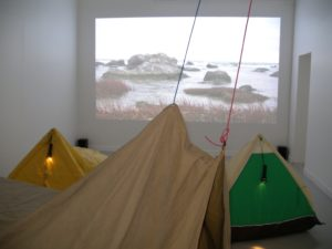 Installation view, The Beach, Gotlands konstmuseum 2011